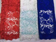 GM-1038 Free Shipping by DHL!multi colour high quality water soluble african cord lace guipure lace fabric for women nice dress
