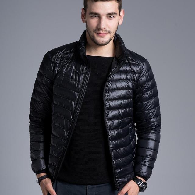 Мужчины свободного покроя теплые куртки сплошной дышащие зимняя куртка мужская на ...