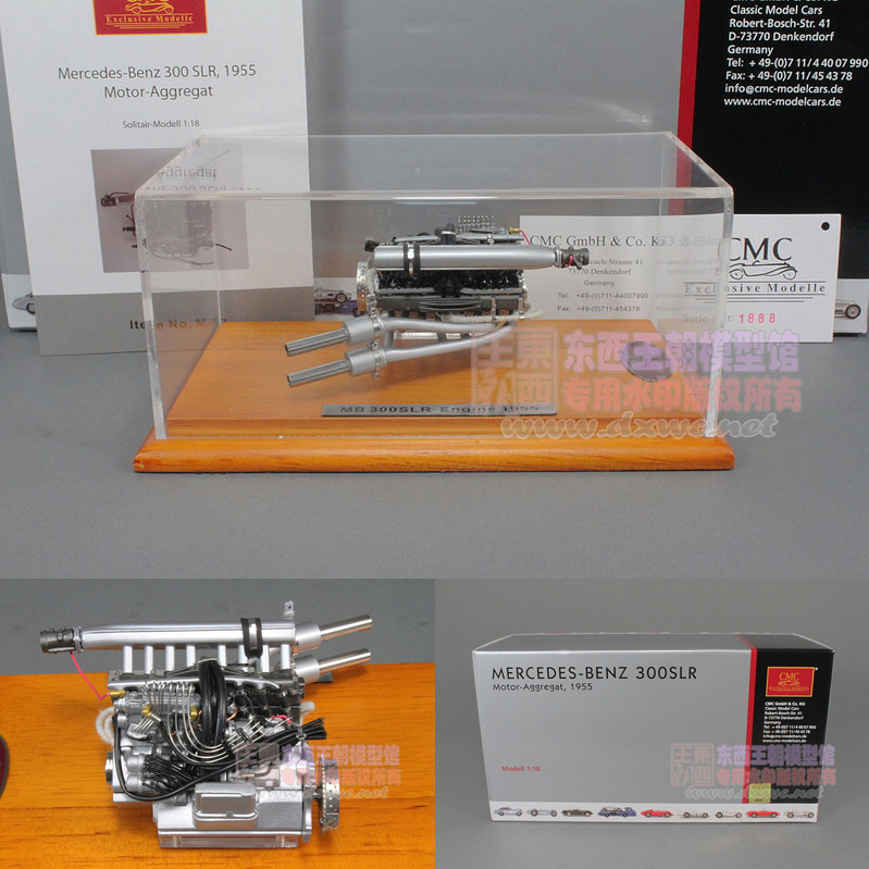 1:18 300SLR Benz Mercedes engine model Benz CMC 300 SLR with a display case(China (Mainland))