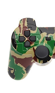 New Style Camouflage wireless game controller for PS3 controller with sixaxis bluetooth controller(China (Mainland))