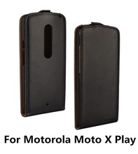 2016 Popular For Motorola Moto X Play Good Quality Plain Genuine Leather Wallet Fashion Top Sales Simple Style Protective Cover