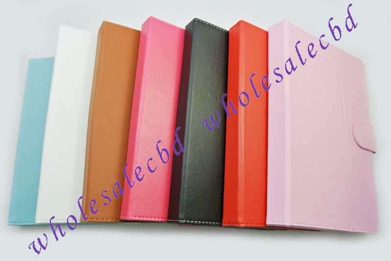300pcs lot Multi Angle Folio Tablet Case 9 inch Android Window Tablet PC Leather Case free