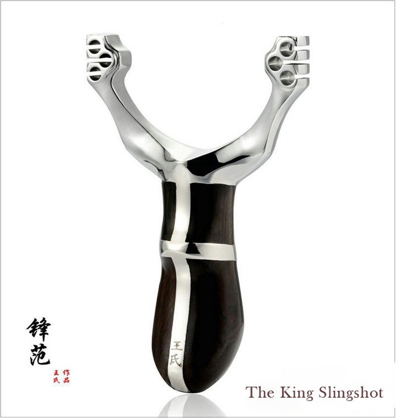 Hot sale King Assault slingshot alloy shot hunter wrist with a bow box +a pack of 4.5 ball card(China (Mainland))