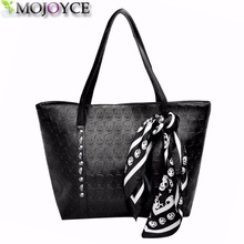 Buy AC 2017 hot pu leather women skull bag female solid punk shoulder bag fashion soft women handbags black large ladies tote bag for $5.65 in AliExpress store