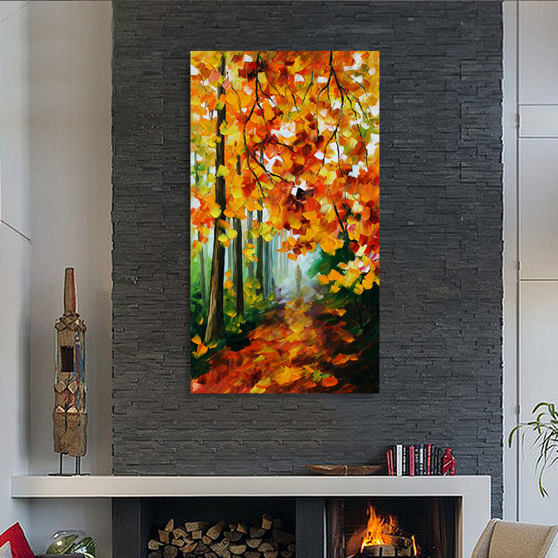 Cheap Sale Walking in the Forest Printed Painting Abstract Oil Painting Oil Painting On Canvas Home Decorative(China (Mainland))
