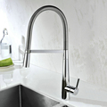 Polished Chrome Kitchen Sink Faucets Put Down Brass Kitchen Basin Mixer taps with Single Handle
