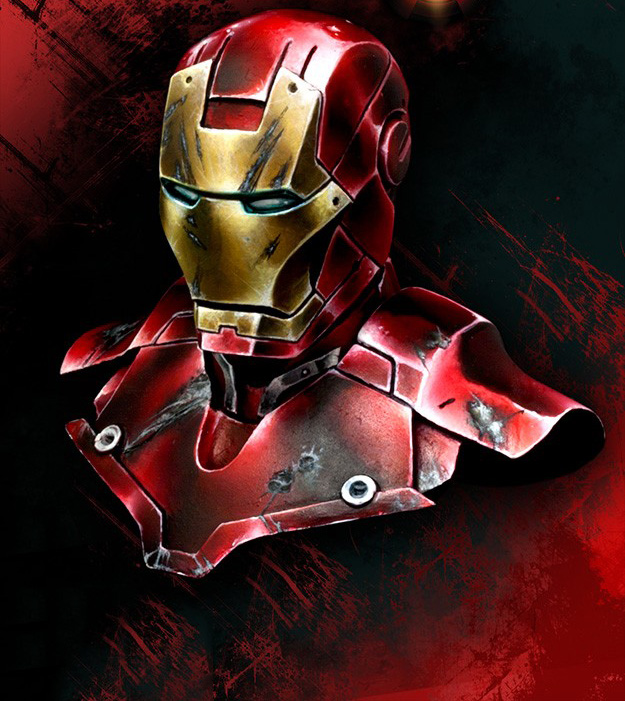Free Shipping 1/10 Scale Resin Figure Iron Man Resin Bust(China (Mainland))