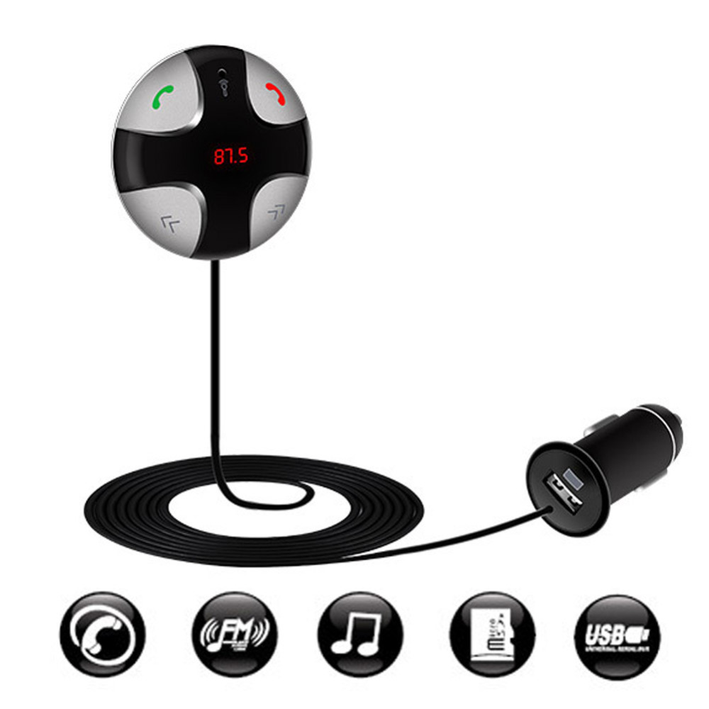 Hot Selling Bluetooth FM Transmitter Car Kit MP3 Player Wireless FM Transmitter FM Modulator with Dual USB Charger(China (Mainland))