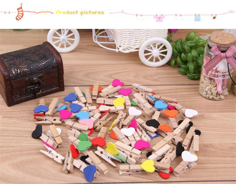 Lowest Price 100 pcs Occasions Wedding Table Number Menu Seating Place Card Clip Mini Heart Love Wooden Holder(China (Mainland))