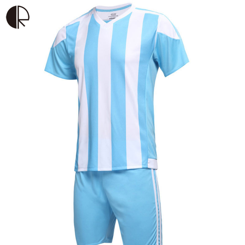 New Arrival Blank Paintless Soccer Jersey Set Football Kits Men Futbol Sport Training Suit Breathable Short Sleeve Sets MT907<br><br>Aliexpress