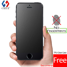 No Fingerprint Premium Tempered Glass Screen Protector For iphone 5 SE 5s 5C Frosted Glass Protective Film For iPhone5 Free case(China (Mainland))