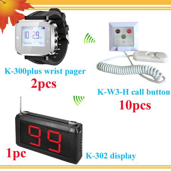 High quality nurse calling system wrist watch pager with 1 Doctor Display Pager 2 Nurse Watch Pager 10 Patient call bells(China (Mainland))