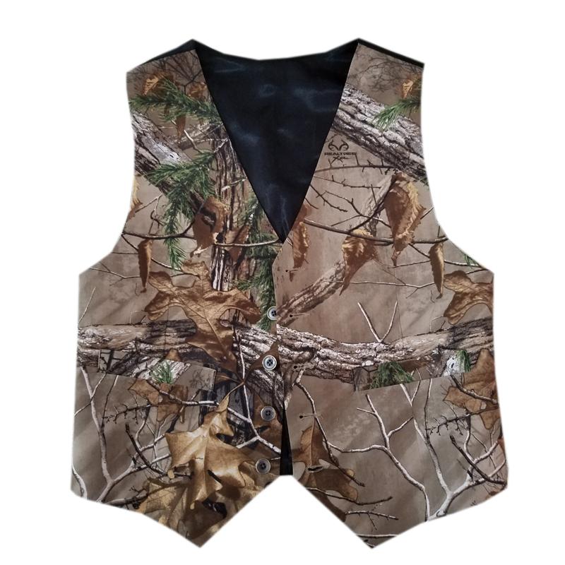 mens tuxedo vests camo wedding groom wear man camouflage formal vest 2017 realtree new custom make free shipping