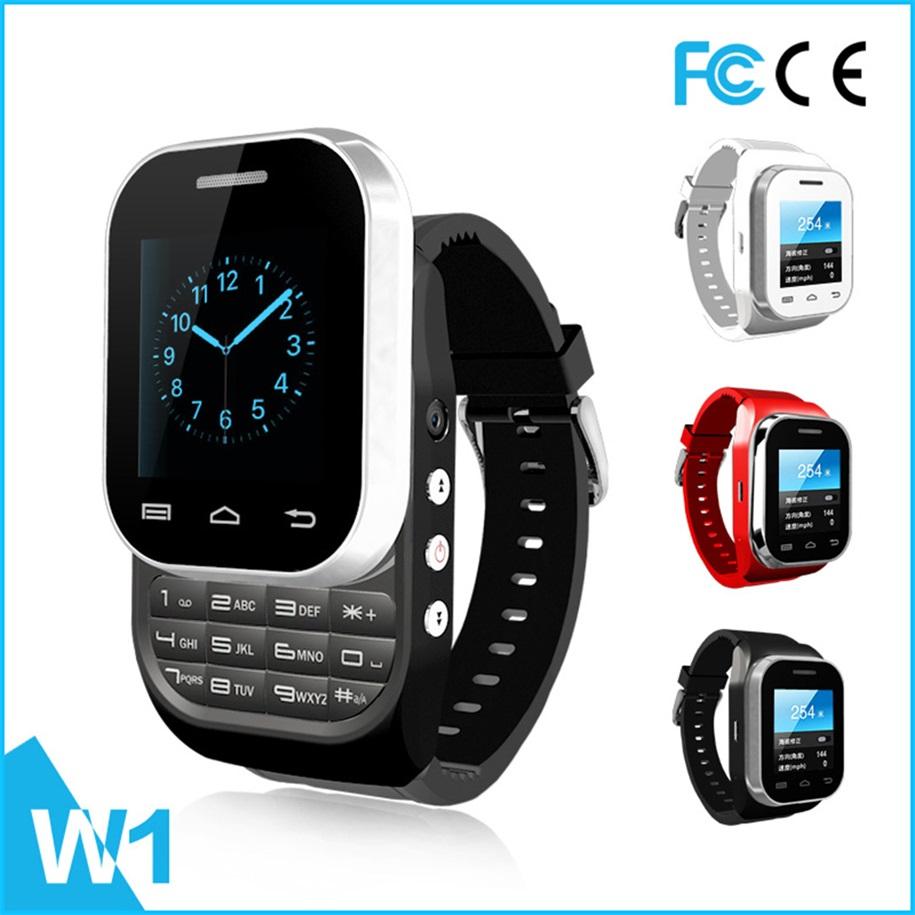 W1 Bluetooth 3.0 1.44'' Screen Smart Wrist Watch with Dual Sim Card New BrandTech