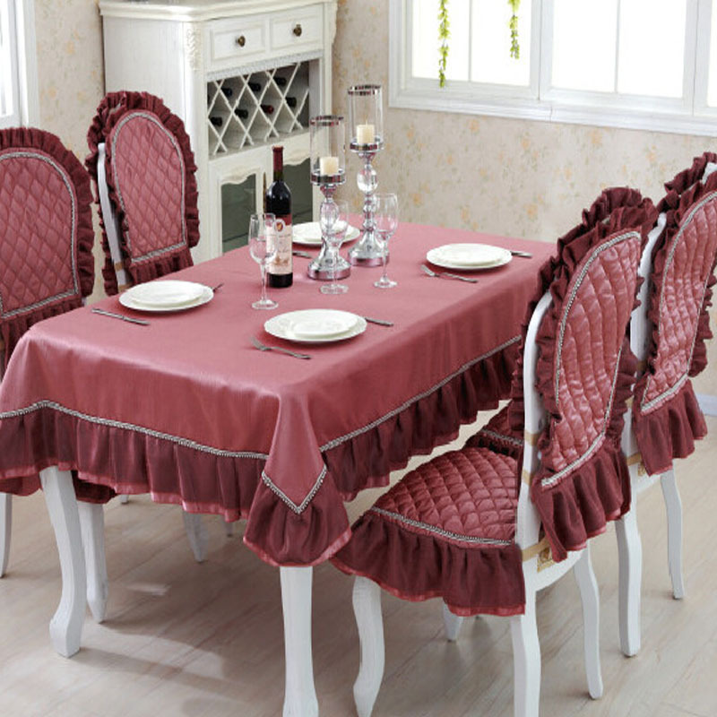 Table Cloth And Chair Covers Handmade Crochet Tablecloth Manteles Para Mesa Rectangulares Fabric For Tablecloths Luxury Red(China (Mainland))