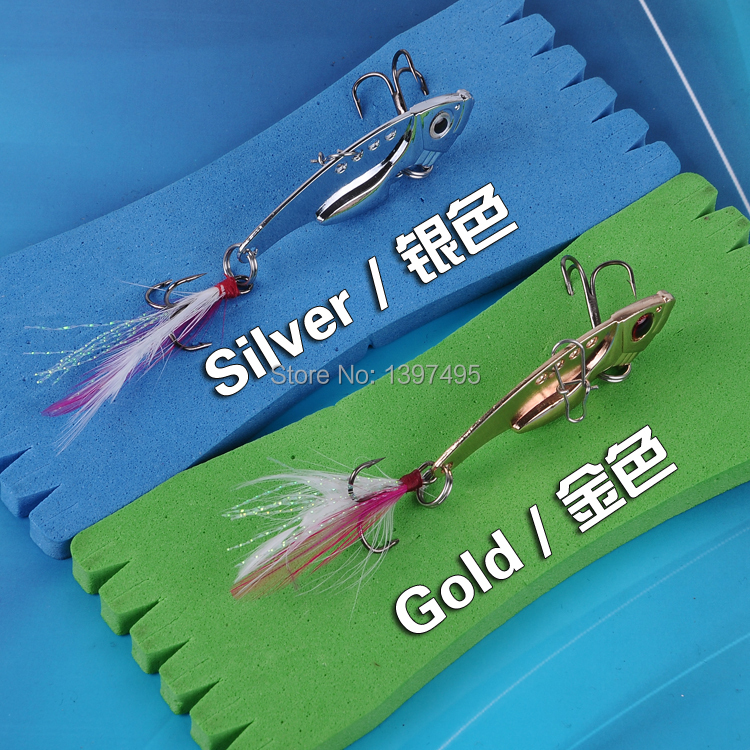 Free shipping 6PCS Cheap 7 g 12g -hyun fish lures VIB metal sequins sequined feathered lures bait Fishing supplies wholesale(China (Mainland))