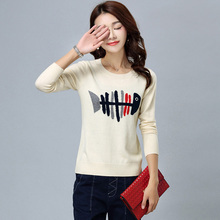 Mujeres casual moda suéter suéter suéter de lana de invierno mujer más tamaño mujeres suéter de punto suéter blanco mujer delgada(China (Mainland))