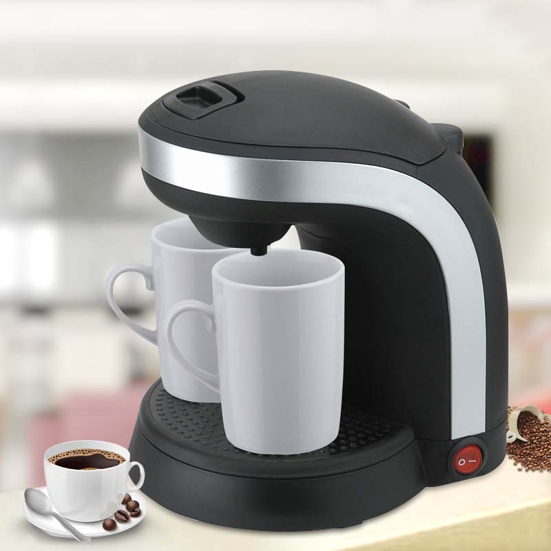 2016 European 220-240V Plastic Drip coffee maker 2 cups Home coffee machines automatic maker Electrical appliances<br><br>Aliexpress