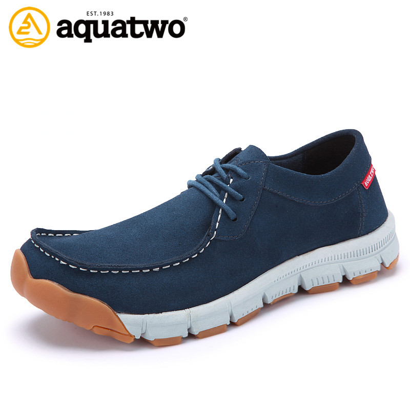 New Design 2016 AQUA TWO Shoes Men Five Fingers Shoes Lace Up Mens Shoes Casual US5.5-10# Zapatos Hombre Leather Genuine Shoes(China (Mainland))