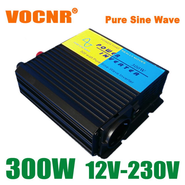 DC 12V to AC 230V 240V 300W Pure Sine Wave Inverter with 5V USB Charger, Off Grid Solar Wind Inverter