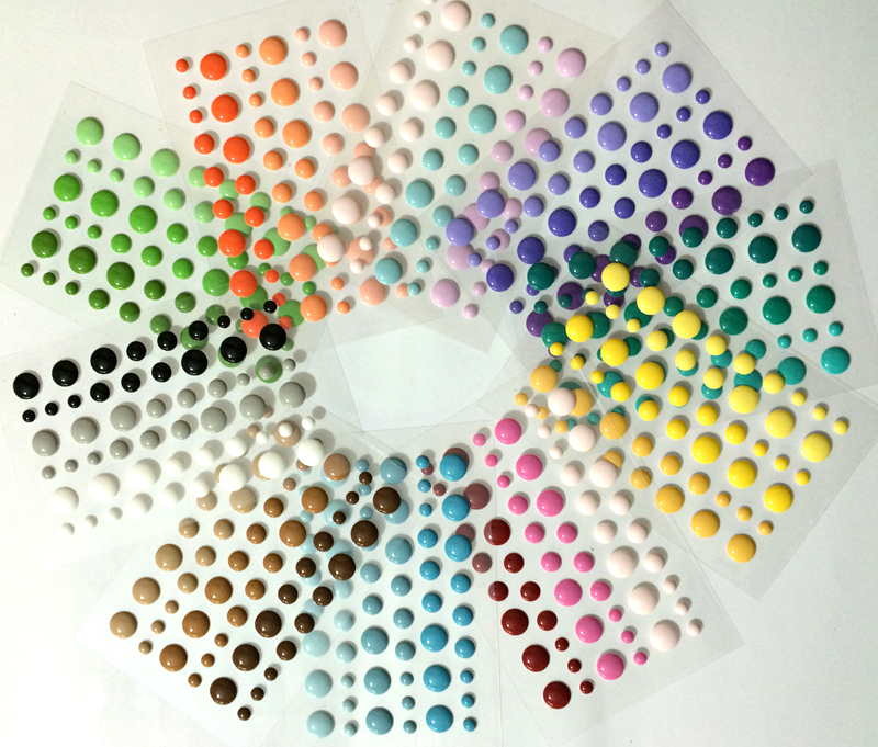 (50 pieces/lot) enamel dots Self adhesive Stickers for Scrapbooking Embellishments(China (Mainland))