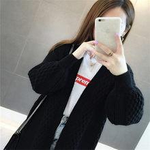 Cardigan lavorato a maglia delle donne di usura 2009 di usura della molla del nuovo V-collare puro-schiuma di colore maglione del manicotto allentato Coreano versione giacca(China)