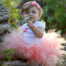 2016 Fashion Baby Girls Skirts Infant Summer Skirt Girl Pettiskirt Photography Dance Party Tutu Costume Baby clothes F1(China (Mainland))