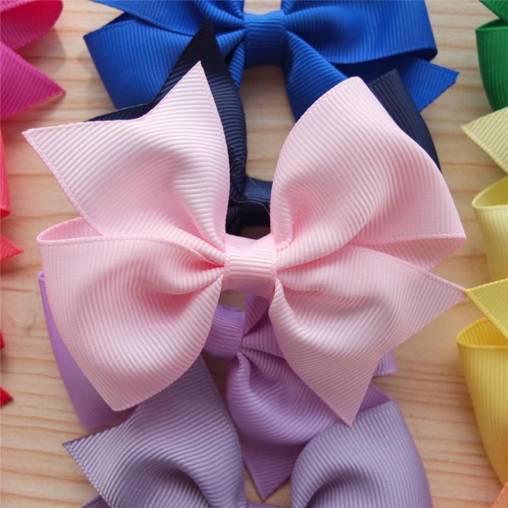 3.5 Inch Hair Bow Boutique hair accessories hairpin hair clip Barrettes School Hair bow Infant Baby girl bows Clip Bowknot 40pcs