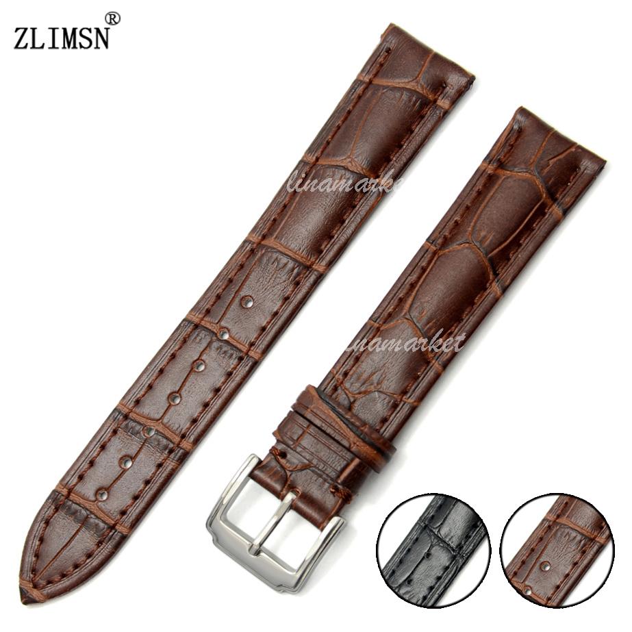 22mm New Brown Soft 100% Genuine Leather alligator grain Watch Band Strap belt Watchbands(China (Mainland))