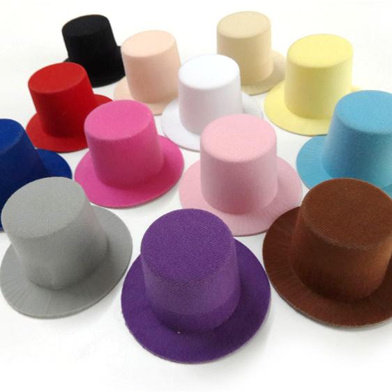 Wholesale 12pcs/lot Plain Mini Taller Top Hat 9CM Hen Party Top Hat Girls Hair Fascinator Hat Base DIY Woman Hair Accessories(China (Mainland))