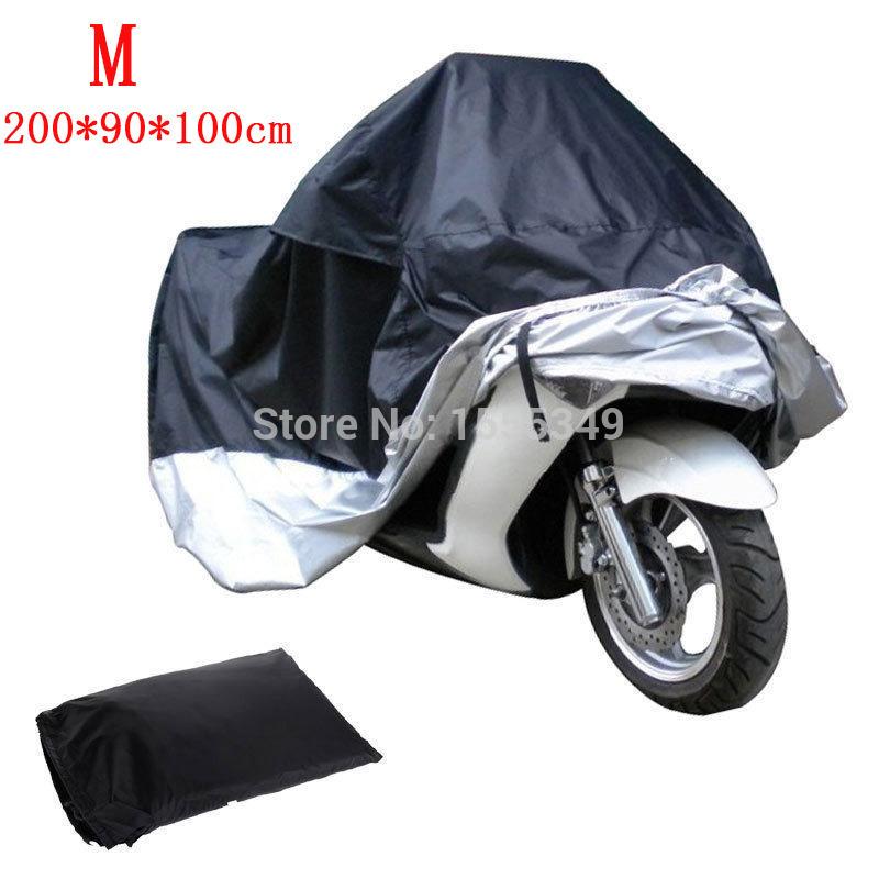 Size M Motorcycle Cover Street Bike Scooter Waterproof Dust Protector Rain Cover For Honda Yamaha Suzuki Kawasaki Harley KTM BMW(China (Mainland))