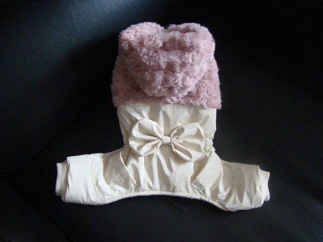 elegant rose patter woolen dog winter coats with legs and hat