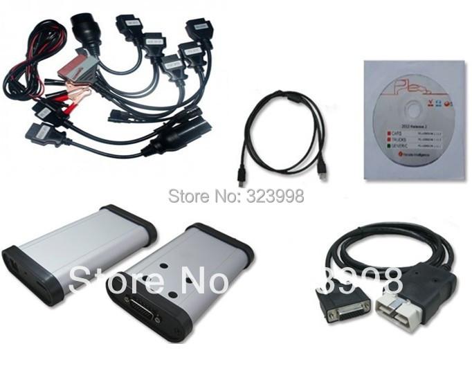 2014.2 версия из светодиодов OBD коннектор серый TCS CDP большой 3 в 1 на компакт-диск A 8 кабели для автомобили