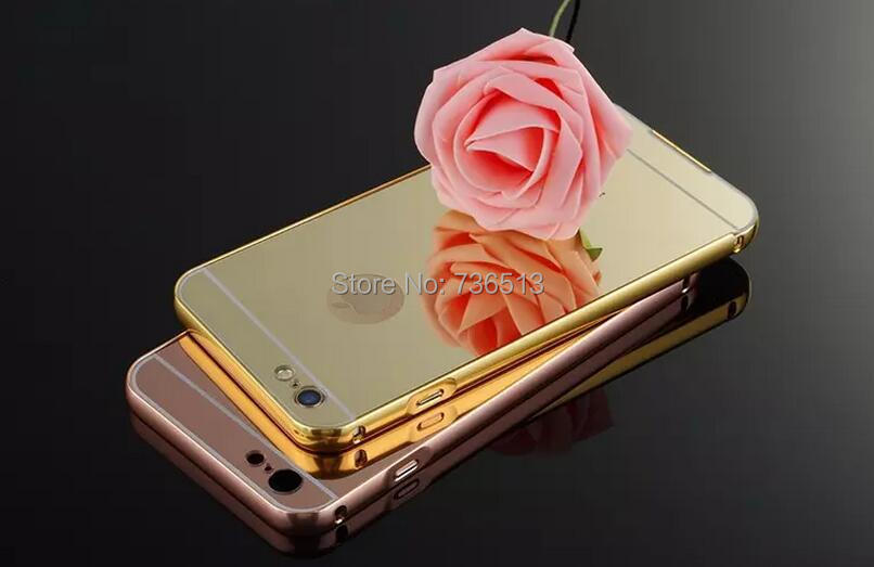 100pcs DHL Free shipping Luxury Metal + Electroplate Mirror Plate Case for Apple iPhone 5 /5S 6 /6S for iPhone 6S /6 Plus(China (Mainland))