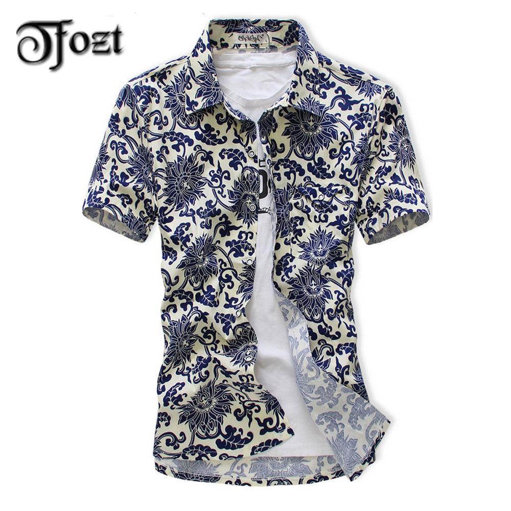 2015 new design summer short sleeved shirt pattern slim for Mens short sleeve patterned shirts