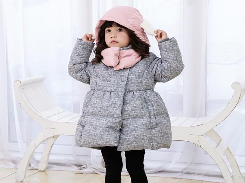Скидки на 2016 Детей Пальто Минни Новорожденных Девочек зимнее Пальто дети куртка с длинным рукавом пальто девушки теплая куртка Зимняя Верхняя Одежда Толщиной девушки