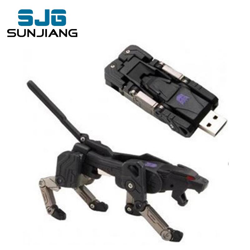 New Hot sale Transformers robot USB Flash Drive pen drive 32GB 4GB 8GB 16GB u disk pendrive memory stick cool gift free shipping(China (Mainland))