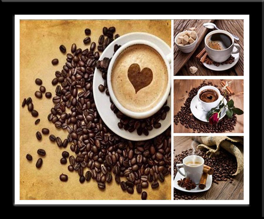 Алмазная вышивка кофейная романтика