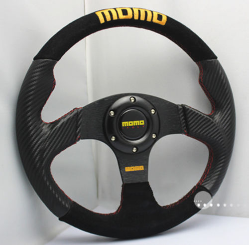 "13"" 330mm PVC Nubuck Leather Flat Dish Steering Wheel MOMO Rally Drifting Racing Fits OMP SPARC MOMO BOSS KIT(China (Mainland))"