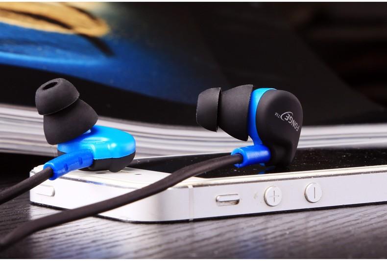 Original Brand Sports Earphones Running Headphone Wire Sweatproof In-ear Earhook Music Headset tereo Bass with Mic black