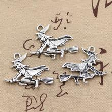 Buy 10pcs Charms witch broomstick halloween 36*34mm Antique charms pendant fit,Vintage Tibetan Silver,DIY bracelet necklace for $2.25 in AliExpress store