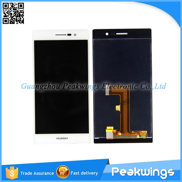 Для Huawei Ascend P7 ЖК-Экран + Сенсорный Экран Замена Ассамблеи С Отслеживая Черный/Белый liberty project чехол флип для huawei ascend p7 black
