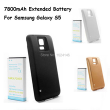 High Capacity 7800mAh Extended Replacement Rechargeable EB-BG900BBC Li-ion Battery + Back Cover Case For Samsung Galaxy S5 i9600