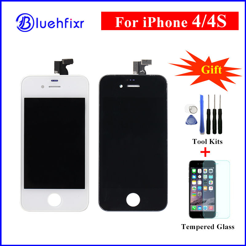 AAA Quality LCD Screen for iPhone 4/4S LCD Display for iPhone 4S Touch Screen Digitizer Assembly Black/White Replacement Parts(China (Mainland))