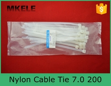 Горячая распродажа нейлон кабельные стяжки 200 мм MKCT-7.0 * 200 заводские 100 шт./пакет