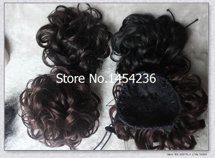 Curly Bun Hair Pieces Big Curly Hair Bun Chignons