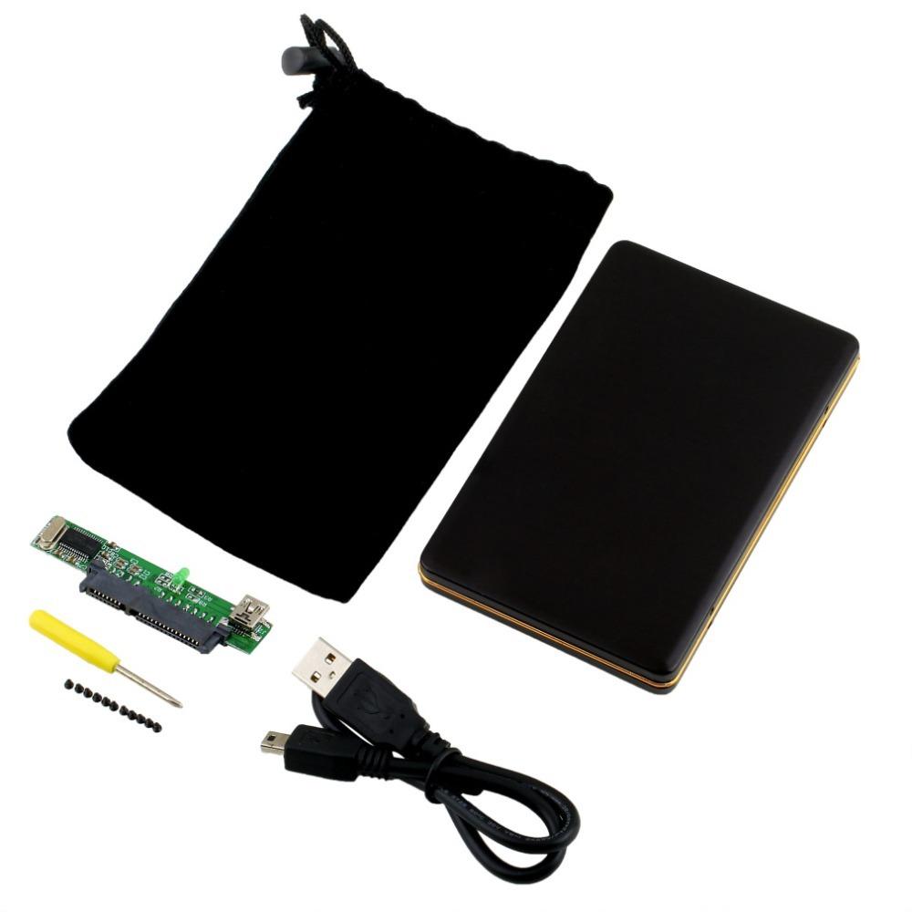 1pc 2.5 inch SATA HDD Box USB 2.0 HDD Hard Drive Disk SATA External Storage Enclosure Box Case Newest(China (Mainland))