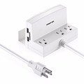 New Arrival Poweradd Deskstop 2 USB Port 3 Outlet Surge Protectors Lightningproof Charger Power Strip For