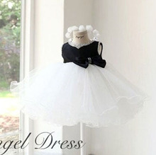 new flower girl wedding dress with pearls designer girls party dresses with big bow