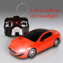 1:24 models remote control car model, Simulation of rc car toy, children radio controle car gift With Cool LED front Light(China (Mainland))